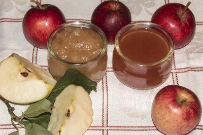 Apfelmus und Apfelsaft